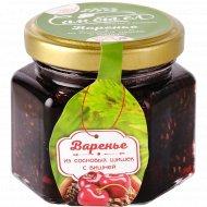 Варенье «Сам бы ел» из сосновой шишки с ягодами вишни, 150 г.