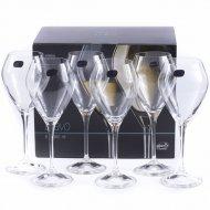 Набор бокалов для вина «Bohemia Crystal» Bravo, 6 шт, 360 мл