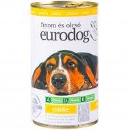 Косервы «Eurodog» для собак с курицей, 415 г.