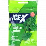 Жевательная резинка «Ice-X» белая мята, 31.3 г.