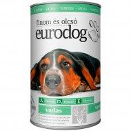 Консервы«Eurodog» для собак с олениной, 415 г.