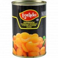 Абрикосы очищенные «Lorado» половинки в легком сахарном сиропе, 410 г.