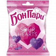 Мармелад жевательный «Бон Пари» кислые сердца, со вкусом ягод, 65 г