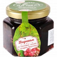 Варенье «Сам бы ел» из сосновой шишки с ягодами брусники, 150 г.