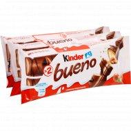 Вафли «Kinder bueno» с молочно-ореховой начинкой, 3х43 г.