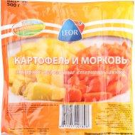 Картофель и морковь отварные «Leor» нарезанные 500 г.