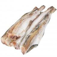 Рыба мороженая «Минтай тушка» полупотрашеная, 1 кг., фасовка 0.8-1.3 кг