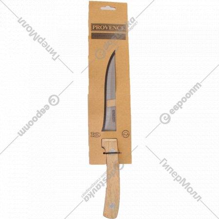 Нож металлический с деревянной ручкой, 27 х 15 см.