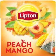 Чай черный «Lipton» персик и манго, 20 пакетиков.
