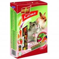 Корм 2в1 «Vitapol» для хомяков и кроликов, овоще-фруктовый, 340 г.