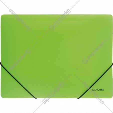 Папка пластиковая «Economix» В5 для документов на резинке, 176x250.