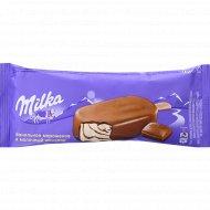 Мороженое эскимо «Milka» ванильное с шоколадным соусом, 62 г.