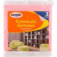 Салфетки вискозные для уборки «Grosik» 35х35 см, 3 шт.