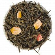 Чай зеленый листовой «Чайные Шедевры» сочный манго, 500 г.