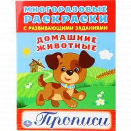 Многоразовые раскраски «Домашние животные» прописи.