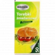 Пакетики бумажные для бутербродов «Grosik» 10смх21см, 50 шт.