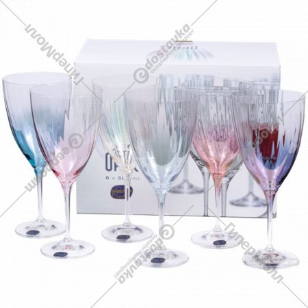 Набор бокалов для вина «Bohemia Crystal» Kate optic, 6 шт, 400 мл