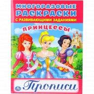 Многоразовые раскраски «Принцессы» прописи.