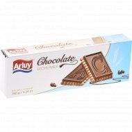 Печенье песочное «Bombonettas milk chocolate arluy» с молочным шоколадом, 150 г.