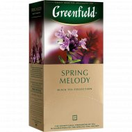 Чай чёрный «Greenfield» с ароматом фруктов и душистых трав, 25х1.5 г.