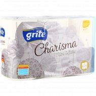 Туалетная бумага «Grite» Charisma pure white, 4-слойная, 6 шт.