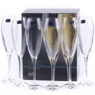 Набор бокалов для шампанского «Bohemia Crystal» Bravo, 220 мл
