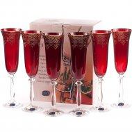 Набор бокалов для шампанского «Bohemia Crystal» Angela, 6 шт, 190 мл