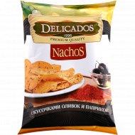Начос «Delicados» с кусочками оливок и паприкой, 150 г.