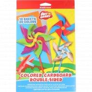 Цветной картон «ArtBerry» двусторонний, 20 цветов.