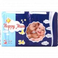 Подгузники «Happy Mum» размер 3, 4-9 кг, 56 шт.