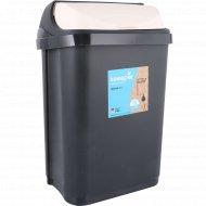 Ведро для мусора пластмассовое с крышкой 10 л.