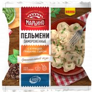Пельмени «Марьино с курицей, грибами, сыром» 400 г.