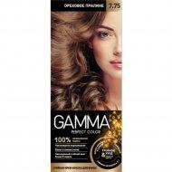 Стойкая крем-краска «Gamma» Perfect Color, тон 7.75.