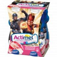 Продукт кисломолочный «Actimel» клубничный пломбир, 2.5%, 4х100 г.