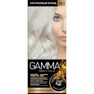 Крем-краска для волос «Gamma Perfect Color» платиновый блонд,тон 10.1.