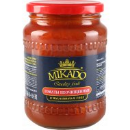Томаты неочищенные «Mikado» в томатном соке, 720 мл.