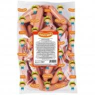 Сосиски вареные из мяса птицы «Карапузики» высшего сорта, 1 кг., фасовка 0.5-0.6 кг