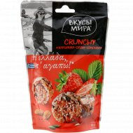 Снэки crunchy «Вкусы мира» клубника-орехи-семечки, 50 г.