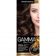 Крем-краска для волос «Gamma Perfect Color» темный шоколад , тон 4.0.