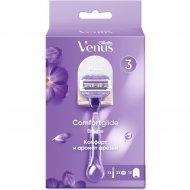 Бритва «Gillette» Venus Comfort Glide, 3 сменные кассеты + подставка