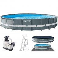 Каркасный бассейн «Intex» Ultra Frame, 26334NP
