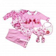 Комплект для девочки, Ва-1112090-11, розовый.