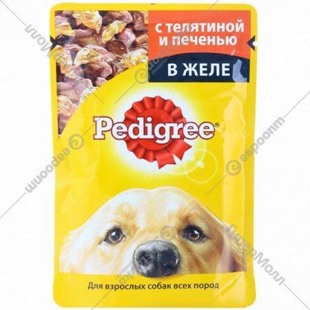 Корм для собак «Pedigree» с телятиной и печенью в желе, 100 г.