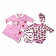 Комплект для девочки, Ва-1112090-08, розовый.