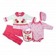 Комплект для девочки, Ва-1112090-07, розовый.