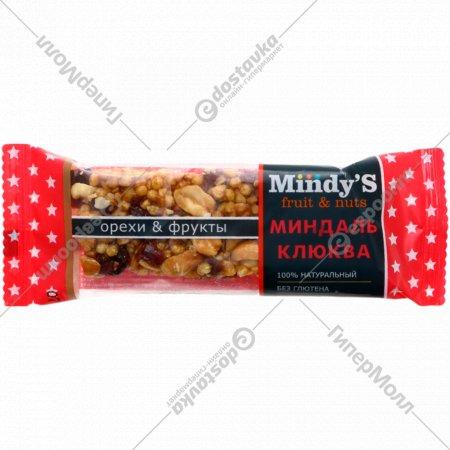 Батончик глазированный «Mindys» миндаль-клюква, 35 г.