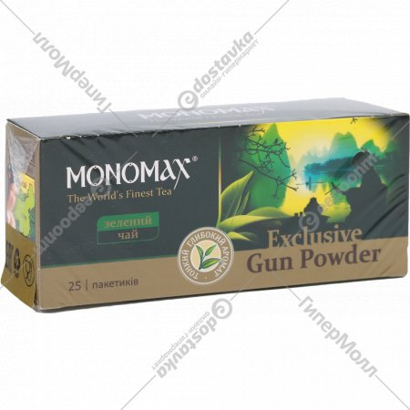 Чай зеленый мелкий «Monomax» байховый, 1.5г х 25 пакетиков.