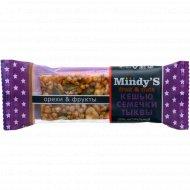 Батончик глазированный «Mindys» кешью-семечки тыквы, 35 г.