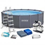 Каркасный бассейн «Intex» Graphite Gray Panel, 26384