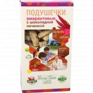 Подушечки амарантовые «Di&Di» со стевией и шоколадной начинкой 250 г.